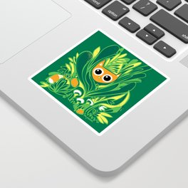 Cat in the Wild Sticker