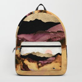 Mauve and Gold Mountains Backpack