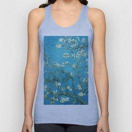 Vincent van Gogh Blossoming Almond Tree (Almond Blossoms) Light Blue Unisex Tank Top