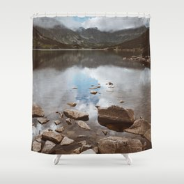 Mountain Lake - Landscape and Nature Photography Shower Curtain