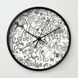The Random and Miscellaneous Doodles Wall Clock