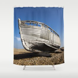 Beached Boat Shower Curtain