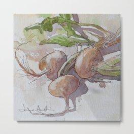 Turnips Metal Print