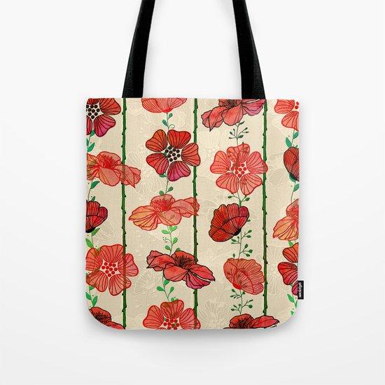 Hanging Poppy Garland Tote Bag