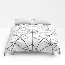 Contemporary black white abstract geometrical Comforters