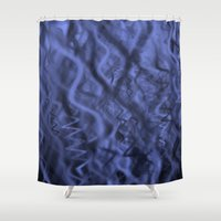 fabric Shower Curtains featuring Fabric by SoundDemon