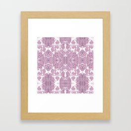 Shibori Rose Crepe De Chine Framed Art Print