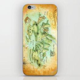Neverland Map iPhone Skin