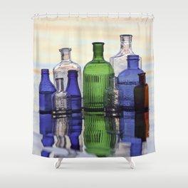 Beach Bottles Shower Curtain