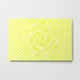 Lemon Yellow Metal Print