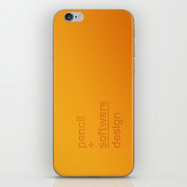 pencil + software = design iPhone Skin