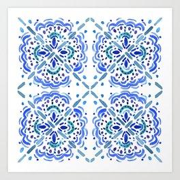 Amalfi Tile Art Print
