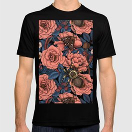 Dream garden in pink and blue T-shirt