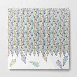Feather Weather Metal Print