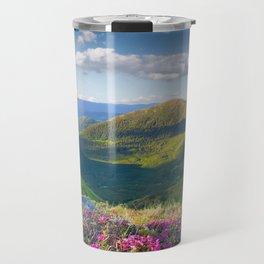 Floral Mountain Landscape Travel Mug