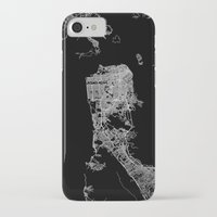 san francisco map iPhone & iPod Cases featuring san francisco map by Line Line Lines