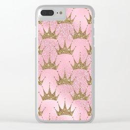 Royal Mermaid Crown Clear iPhone Case