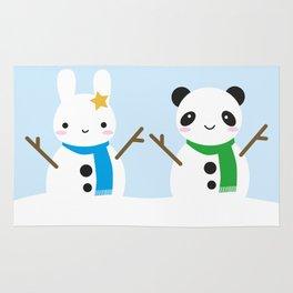 Snow Bunny & Snow Panda Rug