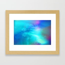 color flower Framed Art Print