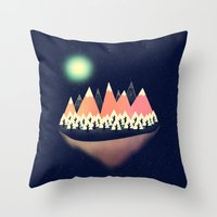 decal Throw Pillows featuring The Other Side by Zach Terrell