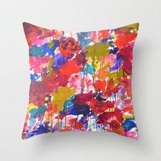 Floral Drip Throw Pillow