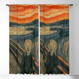 Classic Art - The Scream - Edvard Munch Blackout Curtain