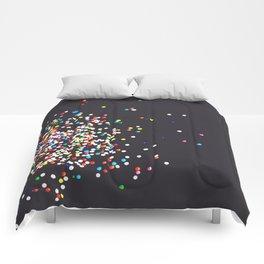Sprinkles - Vintage Black Comforters