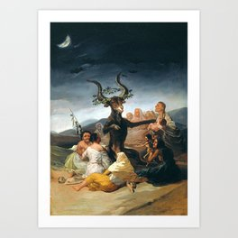 THE SABBATH OF THE WITCHES - GOYA Art Print
