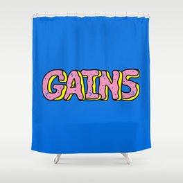 Donut Gains Shower Curtain