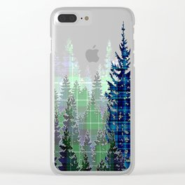 Plaid Forest Clear iPhone Case