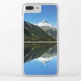 Zermatt Skies Clear iPhone Case