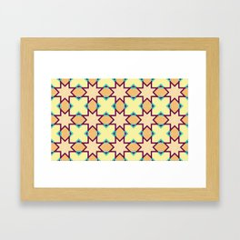 An Ottoman Iznik style floral design pottery polychrome, by Adam Asar, No 47 a Framed Art Print