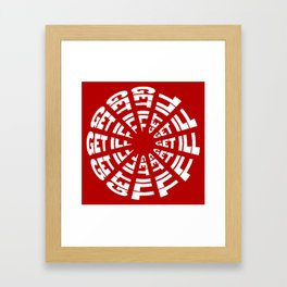 Time to Get Ill Clock - Red Framed Art Print