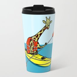 Giraffe Sea Kayaking Travel Mug