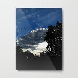 Sun behind the cloud Metal Print