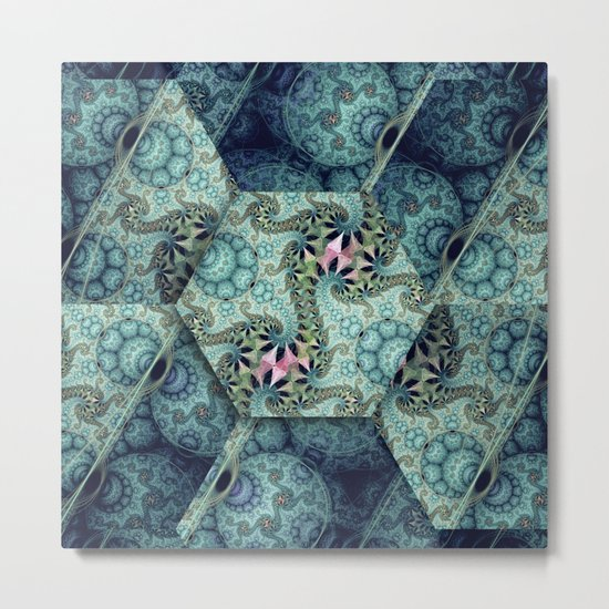 Amazing patterns in cubes and orbs Metal Print