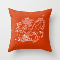 catcher in the rye Throw Pillows featuring The Catcher In The Rye (Red) by Jeremy Jon Myers