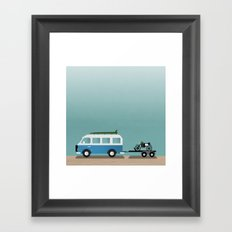Surf Vans Framed Art Print