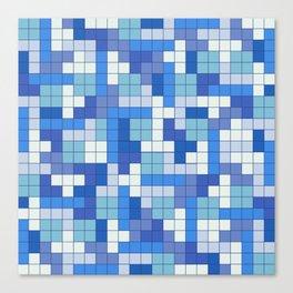 Tetris Camouflage Marine Canvas Print