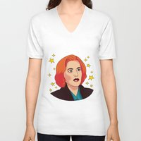 mulder V-neck T-shirts featuring Mulder No by fin apollo