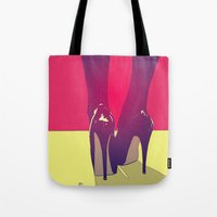shoes Tote Bags featuring Shoes by Giuseppe Cristiano