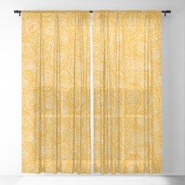 Saffron Roses Sheer Curtain