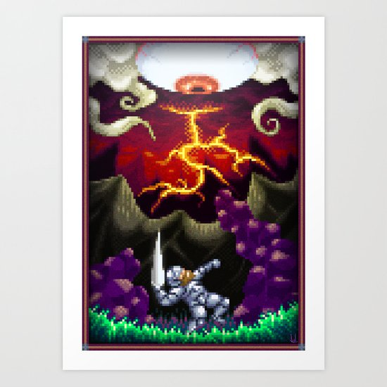 Pixel Art series 5 : The eye Art Print