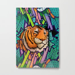 Tiger in the undergrowth Metal Print