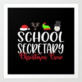 School secretary christmas, office Art Print