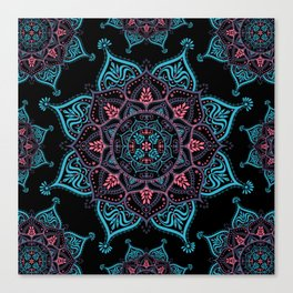 Boho Bliss Mandala Canvas Print