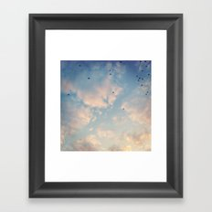 Tiny umbrellas Framed Art Print