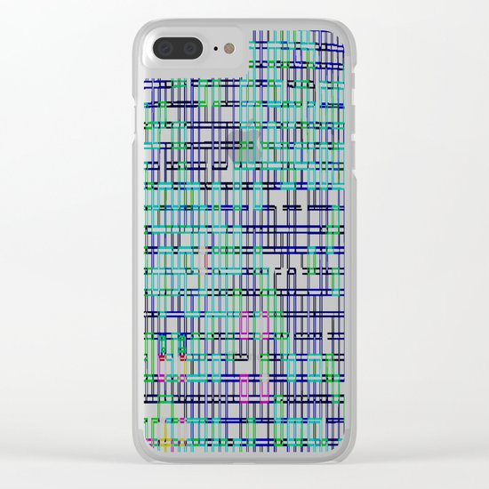 lines colors mystery relaxation in mystery Clear iPhone Case