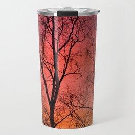 Tree Silhouttes Against The Sunset Sky #decor #society6 #homedecor Travel Mug