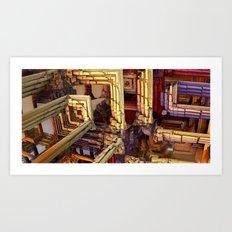 blocks of networking Art Print